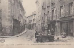 CRAPONNE-sur-ARZON: La Rue Du Commerce Et La Fontaine Bardon - Craponne Sur Arzon