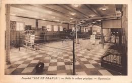 Cartolina Paqueboat Ile De France Salle De Culture Phisique Gymnasium - Cartoline