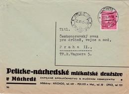 Böhmen Und Mähren Brief Aus Nachode 23.04.1945 - Bohemia & Moravia