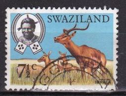 Swaziland Queen Elizabeth 1969 Single 7½c Definitive Animals Stamp. - Swaziland (1968-...)