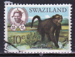 Swaziland Queen Elizabeth 1969 Single 10c Definitive Animals Stamp. - Swaziland (1968-...)