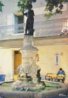 Gard        H295        Aigueze.Statue St Roch - France