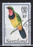 Swaziland Queen Elizabeth 1976 Single 10c Definitive Bird Stamp. - Swaziland (1968-...)