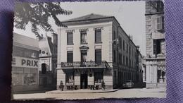 CPSM CHALON SUR SAONE 71 CENTRAL HOTEL AUTO PEUGEOT 203 MAGASIN COMMERCE  TIMBRE ENLEVE - Chalon Sur Saone
