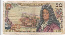 BILLET DE 50 FRANCS/ RACINE/ 1975 / ALPHABET / R.275 - 1962-1997 ''Francs''