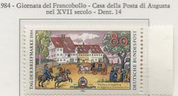 PIA - GERMANIA : 1984 : Giornata Del Francobollo - Casa Della Posta Di Augusta Del XVII° Secolo  - (Yv 1057) - Giornata Del Francobollo