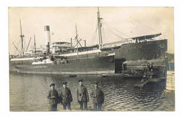 ANTWERPEN  ?   Duitse Bezetting  Haven Schip Christine Belle - Antwerpen