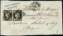 """""""GRANDE BRETAGNE Via GENEVE (SUISSE) Pour LYON """" : 1871 SUISSE 5c + 25c Obl. GENEVE Sur Lettre Avec Texte De LONDRES Pou - Marcofilie (Brieven)"""