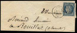 1876 Paire 10c CERES Obl. Cachet Perlé T.24 ST MARTIN-DABLOIS Sur AVIS DE RECEPTION. Superbe. - Marcophilie (Lettres)
