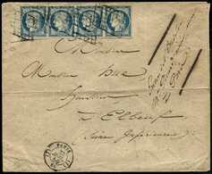 """VALENTINE : 1899 15c SAGE Obl. Sur Enveloppe """"VALENTINE"""" Avec Magnifique Texte Gauffrée. Superbe. - Marcofilie (Brieven)"""