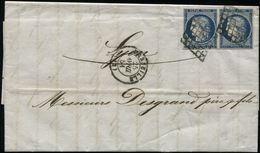 1859 TAXE 10c TB Margé Obl. T.15 MONISTROL + T.22 ST SIGOLENE Sur Lettre. TTB. - Marcophilie (Lettres)
