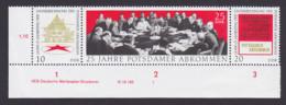 Potsdamer Abkommen ** Zdr. Unterrand DDR W Zd237 DV -1- W. J. Stalin Agreement Les Accords Potsdam - Se-Tenant