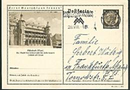 Offenbach (Main) Bildpostkarte Schloss, Stadt Des Leders Lederwaren, MWSt. Chemnitz Int. Leipziger Messe 1938 - Deutschland