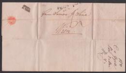 Ungarn Altbrief PEST 1841 Nach Wien Faltbrief Mit Inhalt - Österreich