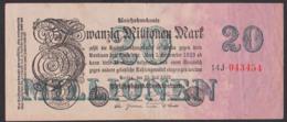 Reichsbanknote 20 Millionen Mark, Ausgabe 25. Juli 1923, Serie 14J - [ 3] 1918-1933: Weimarrepubliek