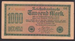 Deutsches Reich, Reichsbanknote 1 Tausend Mark, Ausgabe 15. September 1922, Serie OE - [ 3] 1918-1933: Weimarrepubliek