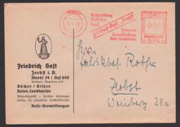 Germany Zerbst AFS 1940 'Friedrich Gast Buchhaltung Musikalien Heimatschrifttum!' Bücher Bilder Noten - Duitsland