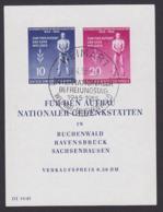 DDR Weimar Buchenwald Internationaler Befreiungstag DDR Block 11 Mit SoSt. - Blokken
