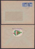 DDR Halberstadt Musik Rabsilber, Oblate Vignette Aufbau - Ausstellung 1947 - Brieven