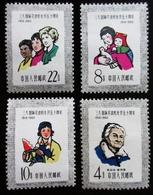 1960 CHINE Mi 518, 519, 520, 521 . 50th Anniversary Of International Women's - Unused Stamps