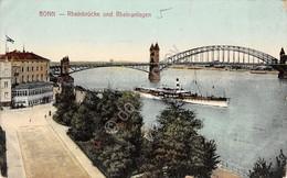 Cartolina Bonn Rheinbrucke Und Rheinanlagen 1912 - Cartoline