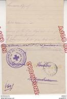 Au Plus Rapide Hôpital Auxiliaire 216 Larressore Lettre Et Son Contenu 17 Mars 1915 - 1914-18