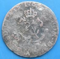 LOUIS XV DIT LE BIEN AIMÉ, Double Sol De Billon 1764, A, TTB - 987-1789 Royal