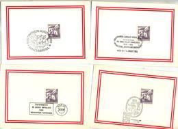 9 Carte Cachet Evenement à Voir - Marcofilie - EMA (Print Machine)