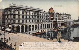 Cartolina Hamburg Alsterarcaden 1919 - Cartoline