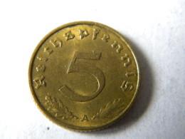 ALLEMAGNE - 5 REICHSPFENNIG 1937.A. BRONZE. - [ 4] 1933-1945 : Third Reich