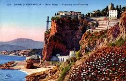 CPA Grimaldi Di Ventimiglia Balzi Rossi Frontiera Italo-Francese - Imperia