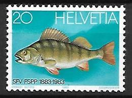 SUISSE    -   1983.    Y&T N° 1174 **.   Pêche, Pisciculture, Poisson, Perche. - Neufs