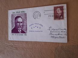 Cuba FDC Gral Emilio Nuñez 1955 - FDC