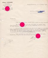IMPRIMERIE BLEGNY TREMBLEUR 1938 ALBERT LEMAIRE Imprimeur 1938 - Imprenta & Papelería