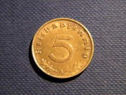 ALLEMAGNE - 5 REICHSPFENNIG 1939 A. - [ 4] 1933-1945 : Third Reich