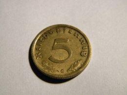 ALLEMAGNE - 5 REICHSPFENNIG 1939 G. - [ 4] 1933-1945 : Third Reich