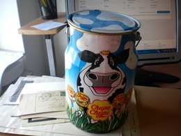 Old Tin Box Chupa Chups Ulra Big Like, A Milk Bin - Scatole
