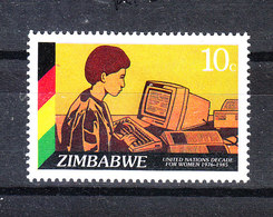 Zimbabwe - 1985. Operatrice Al Computer. Computer Operator. MNH - Professioni