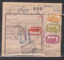 Fragment Met Stempel Natoye - Chemins De Fer