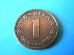 ALLEMAGNE - 1 REICHSPFENNIG 1939.A. - [ 4] 1933-1945 : Third Reich
