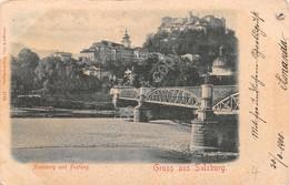 Cartolina Salzburg Gruss Aus Nonnberg Und Festung 1900 - Cartoline