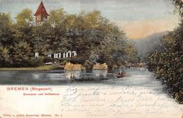 Cartolina Bremen Emmasee Und Kaffeehous 1902 - Cartoline