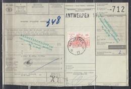 Fragment Met Stempel Antwerpen D11D - 1952-....