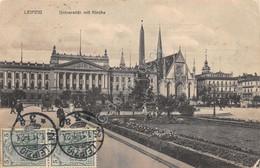 Cartolina Leipzig Universitat Mit Kirche 1911 - Cartoline