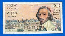 1000 Fr  Du 1/9/1955 - 1871-1952 Circulated During XXth