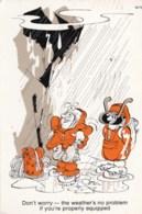 AL04 Comic/Humour - Mountaineering In The Rain - Humor