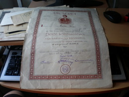 Dicseret Petofi Kolteszetevel Petofi Tarsasag Decorative Diploma, Laureate Petofi Sandor 1932 Budapest - Afiches