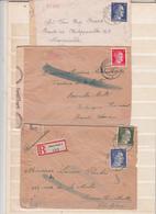 3 Envlps   1945  Avec Bande De Censure - 1939-45