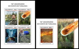 MOZAMBIQUE 2018 **MNH 110 Years Tunguska Event Ereignis Evenement M/S+S/S - OFFICIAL ISSUE - DH1852 - Géographie