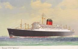 AO84 Shipping - Cunard R.M.S. Syklvania - Artist Drawn - Steamers